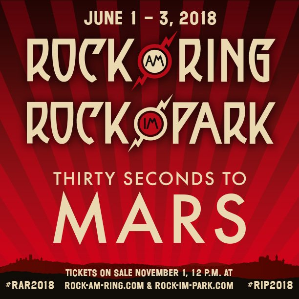 Sei MARS VIP in #RockAmRing + #RockImPark dabei!  �� https://t.co/Xe9uylUfFE https://t.co/2v5LjFo5UH