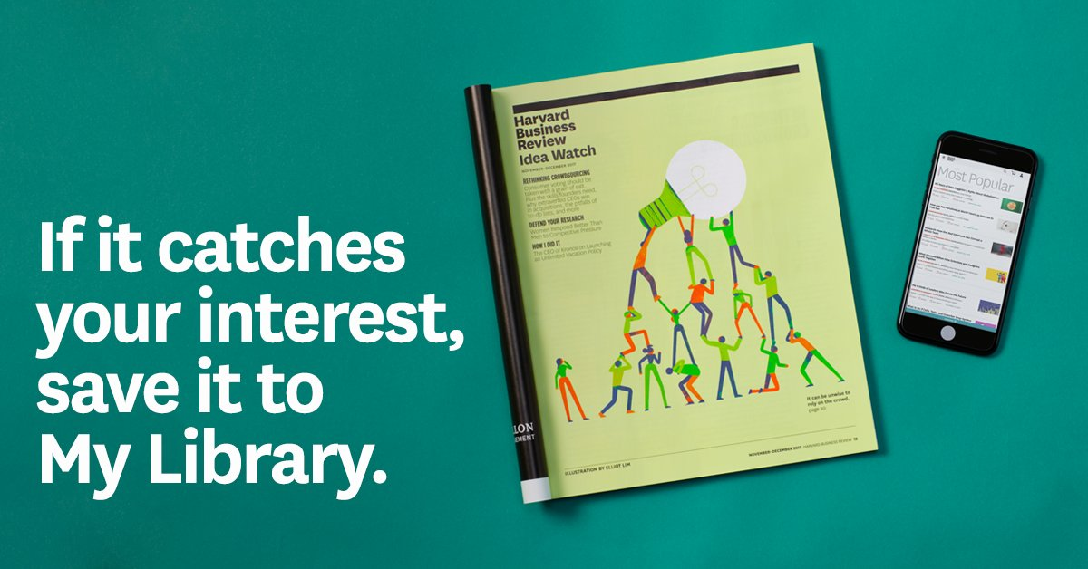Subscribers can save and share the HBR content they value most with our My Library tool. https://t.co/oCPcAUGbrU https://t.co/HKiR0ayFgs