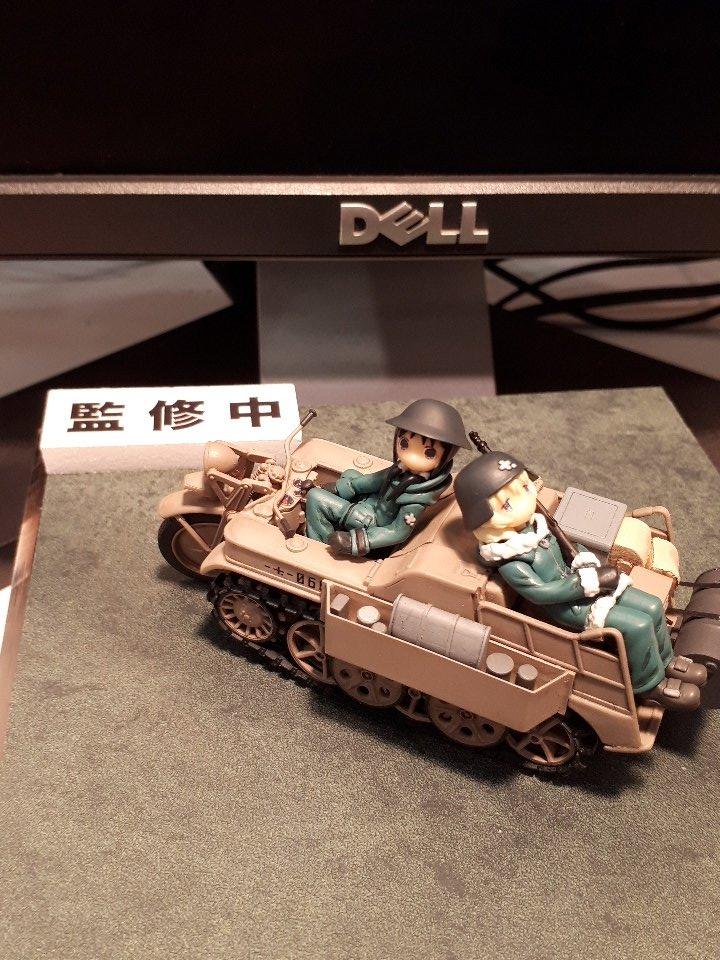 プラッツ 少女終末旅行 ケッテンクラート w/チト&ユーリ フィギュア2体セット プラモデル GLT-01に関する画像8
