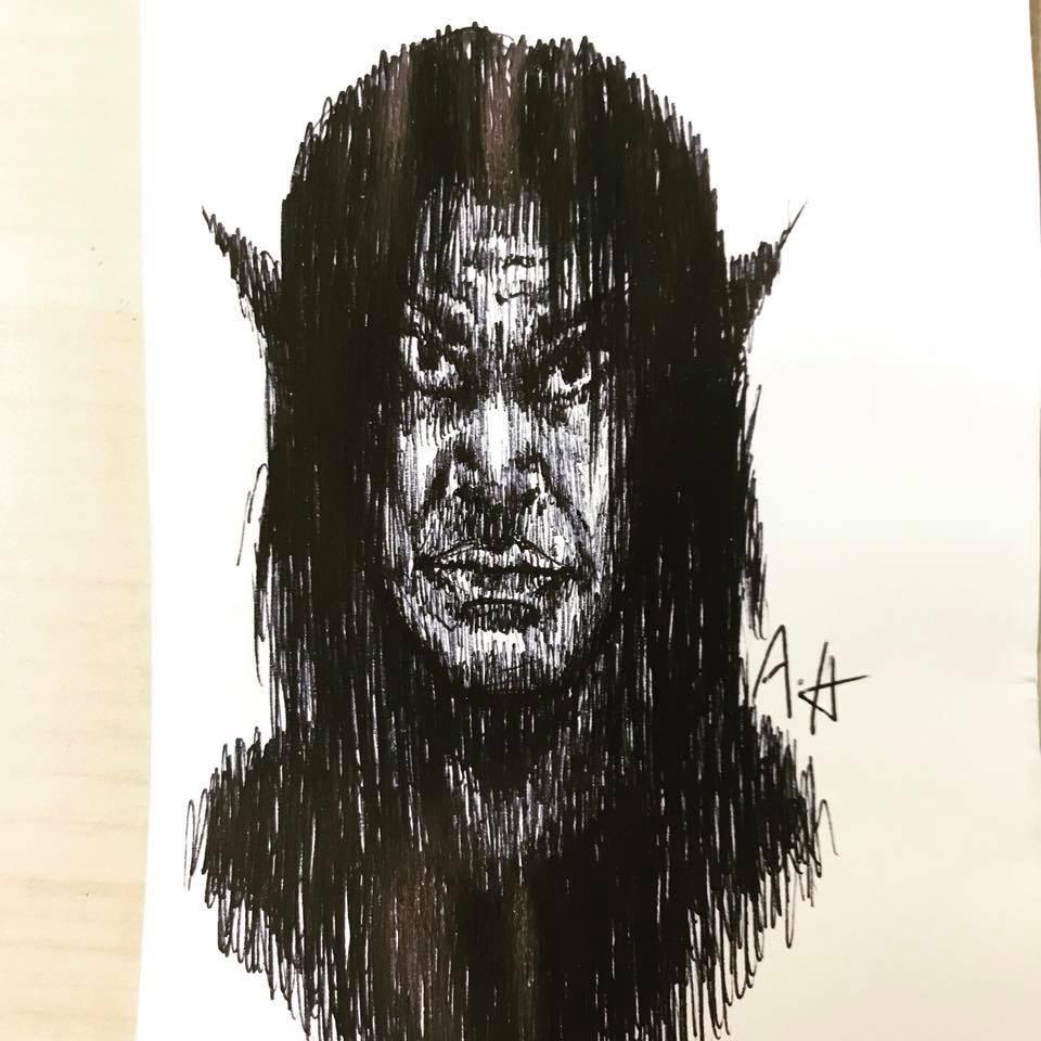 Fantasy Elf Pen Art