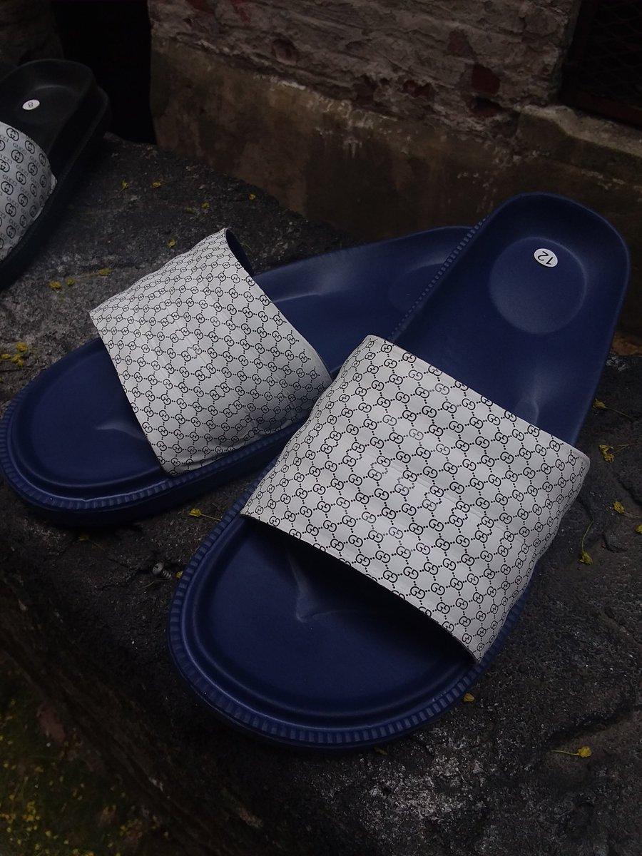 ab443d18c ... #etsy shop: Custom Mini Gucci Slides With Royal Blue Sole - Flip Flop -  Sandals https://etsy.me/2jOeAuS #clothing #shoes #men #black #white  #supremelv ...
