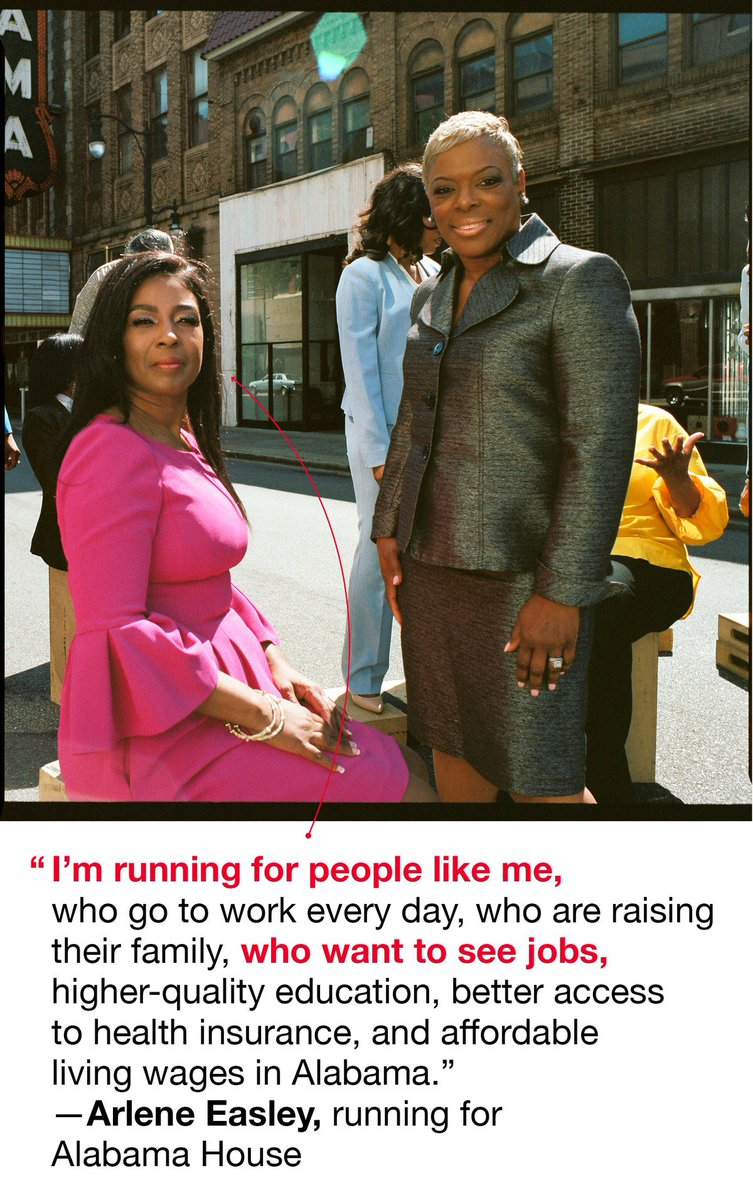 2) Arlene Easley &amp; many of our amazing female #ALDems candidates are being featured by @glamourmag today! Thank you Glamour!   Why is @EasleyH104 running?    https://www. glamour.com/story/black-wo men-running-alabama-midterms/amp?__twitter_impression=true &nbsp; …   #TheFutureIsFemale #BlueWave2018 #BlueWaveAL #alpolitics   <br>http://pic.twitter.com/Xkm5XulyZS