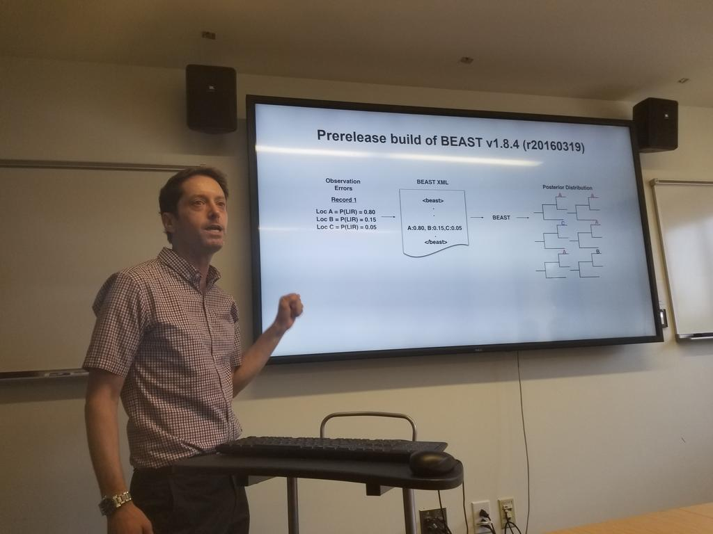 test Twitter Media - @MatthewScotch at our #HLPMonthly meeting @UPennIBI on using NLP to improve virus phylogeography studies https://t.co/YHIlltMh55