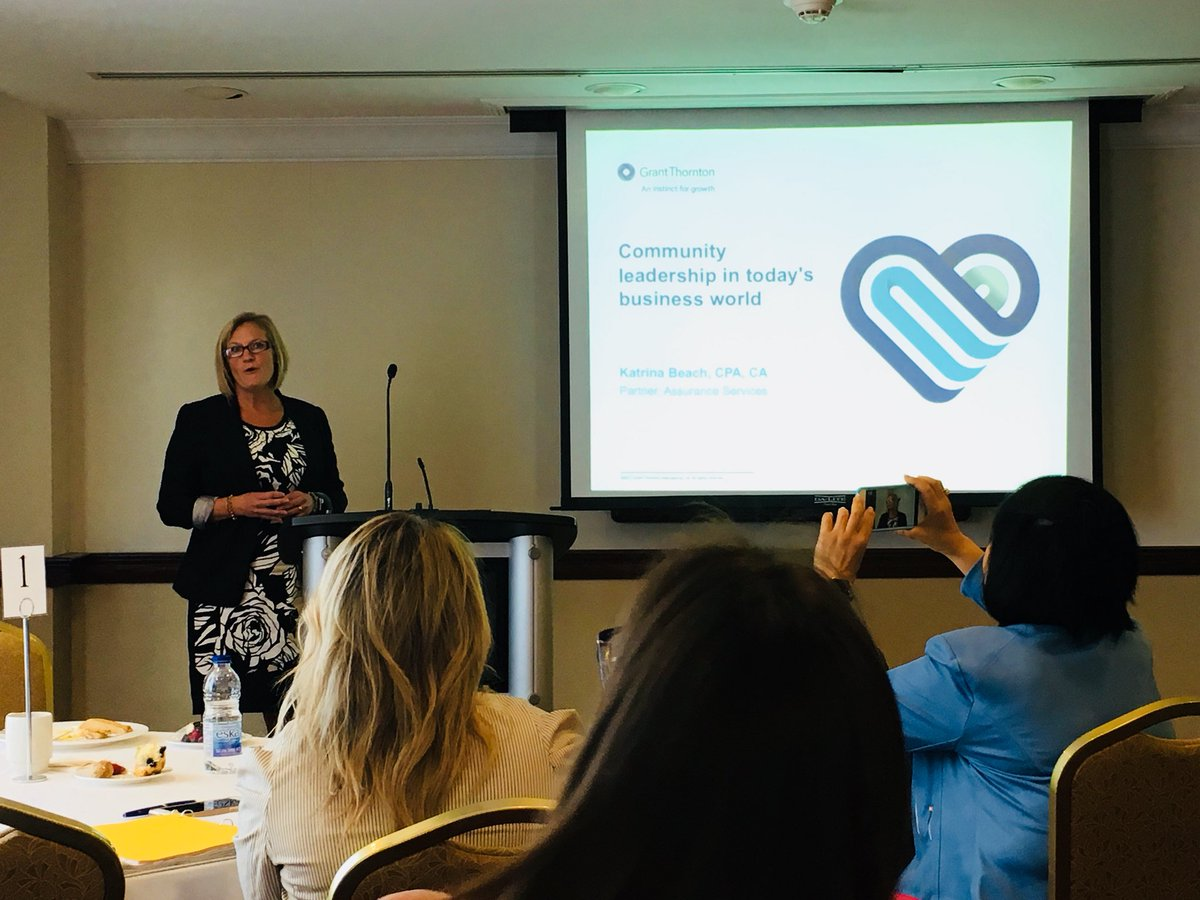 Katrina Beach, partner with @GrantThorntonCA speaking about #ComminityLeadership in today's #Business world at the #WomenInLeadership Conference hosted by FCI-CWA. <br>http://pic.twitter.com/NWA4pYcdgy