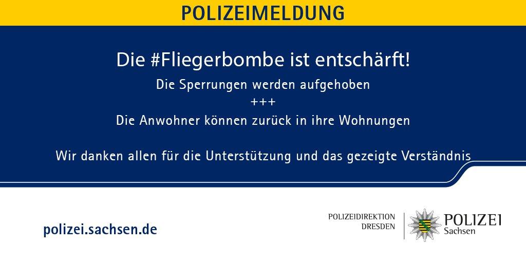 Polizei Sachsen's photo on #Fliegerbombe