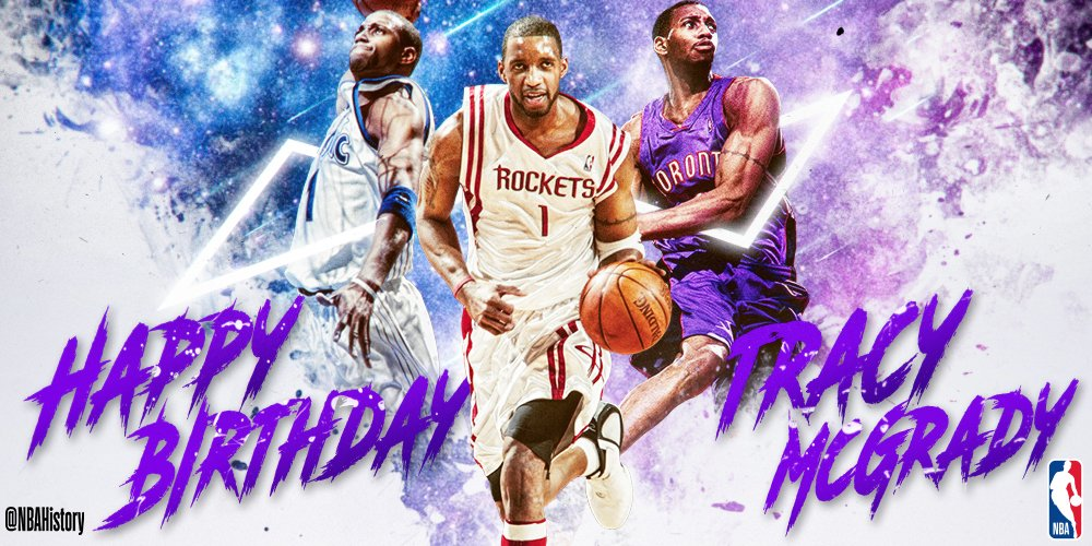 Happy 39th Birthday to 7x All-Star and 2x Scoring Champ, Hall of Famer TRACY McGRADY! #NBABDAY
