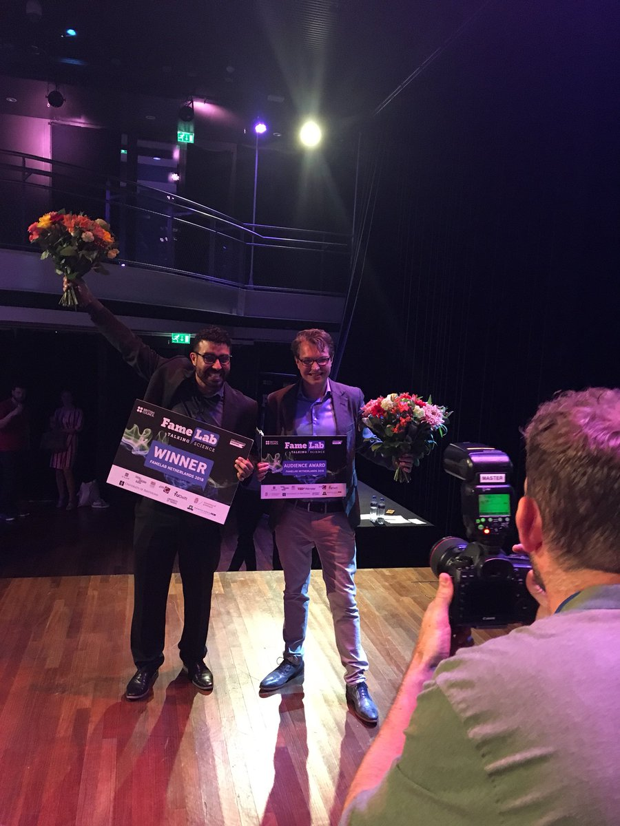Check out the short video report of the 2018 #FameLabNL final on 9 May  @TiVre_Utrecht https://vimeo.com/271625726 Huge congrats to the two  winners: ...