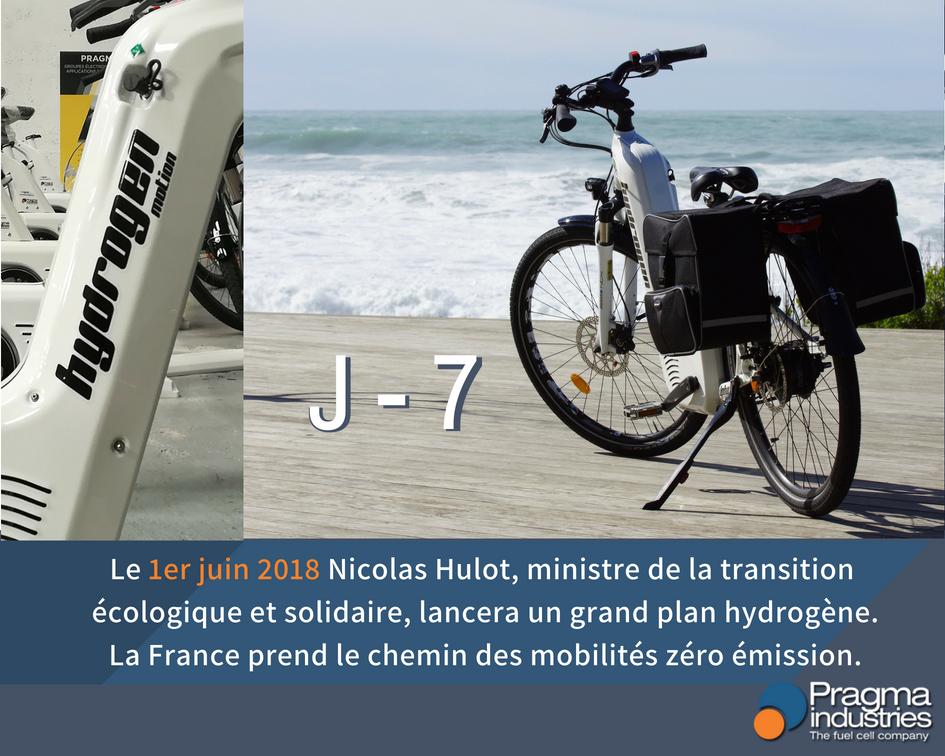 La France prend le chemin des mobilités zéro émission.♻️ @N_Hulot , ministre de la Transition écologique et solidaire lancera un plan Hydrogène le 1er Juin. @Min_Ecologie #H2now #ecomobilite #hydrogen #veloHydrogene #croissanceVerte #TransitionEcologique #PlanHydrogene