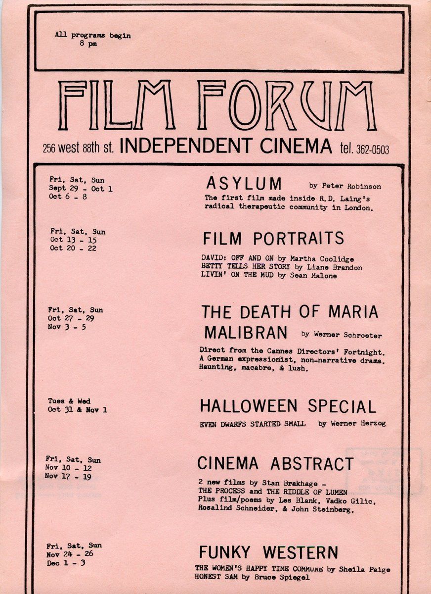 Film Forum On Twitter As We Look Forward To A New Era Of Film
