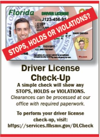 "tax collector, pbc on twitter: ""a driver license check-up can be"