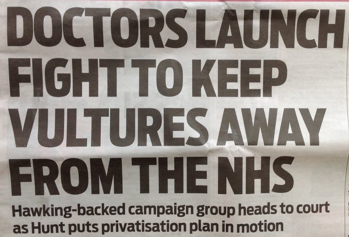 #SaveOurNHS #SomeSayHunt   A group founded by 3 doctors, a professor, a civil servant and supported by the late Professor Stephen Hawking have branded Accountable Care Organisations as an attack on the fundamental principles of the NHS. <br>http://pic.twitter.com/NBy4OGGny3