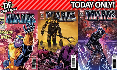 THE STAR OF THE @Avengers MOVIE GETS HIS OWN DAILY SPECIAL! #Thanos TRIPLE TRIFECTA THURSDAY! Buy yours now before you (we mean they : ) disappear! @Marvel @RobertDowneyJr  dynamicforces.com/htmlfiles/info…