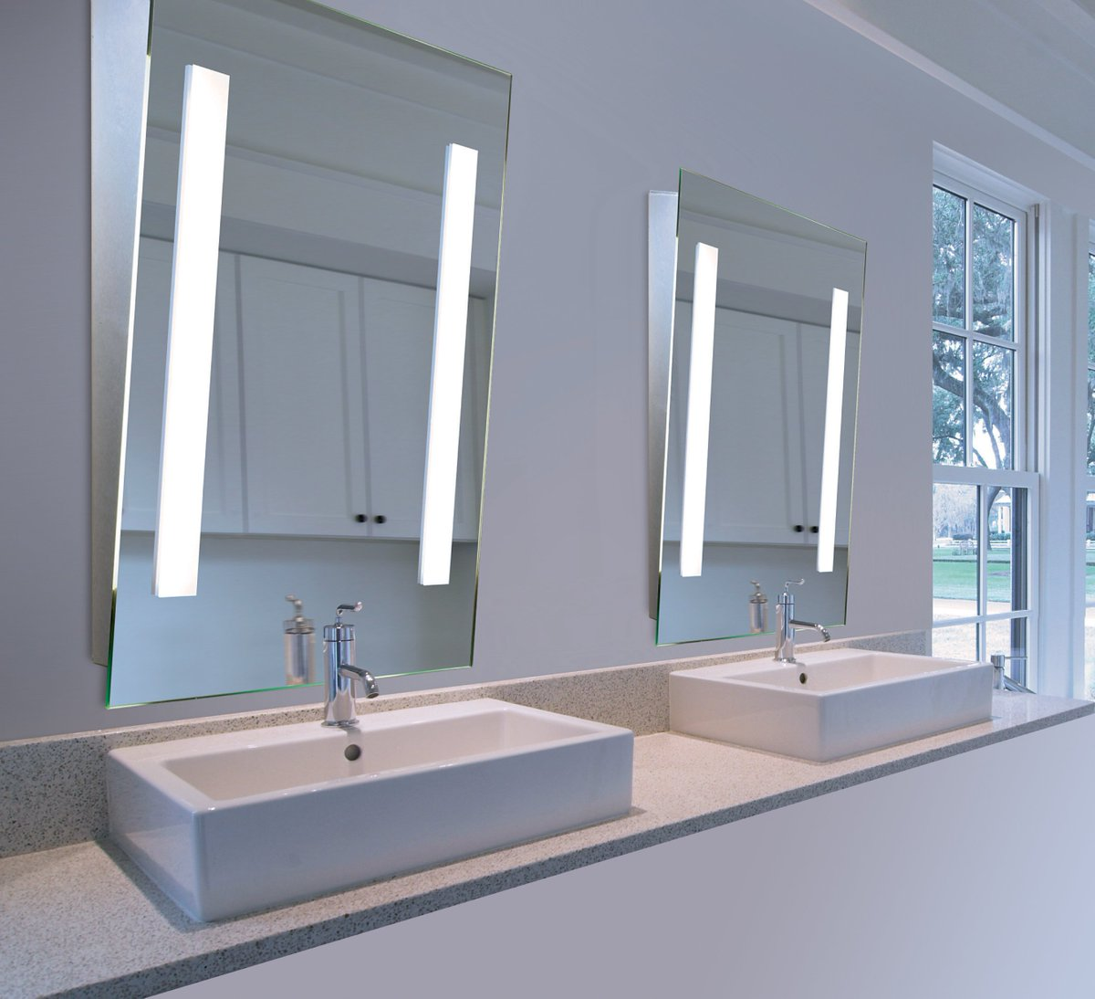 Aamsco Lighting On Twitter Our Angled Illuminated Mirror