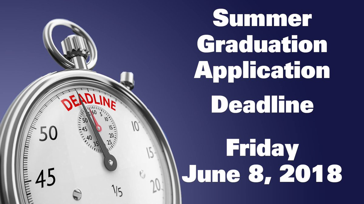 The application for graduation for Summer 2018 is now available online;  http://www. allegany.edu/gradapp  &nbsp;    The deadline to apply for Summer graduation is FRIDAY, JUNE 8th, 2018.  Be sure to apply early to avoid the late fee.    #EngageYourFuture #alleganycollegeofmaryland #ExperienceACM <br>http://pic.twitter.com/GMJVUe0OIw
