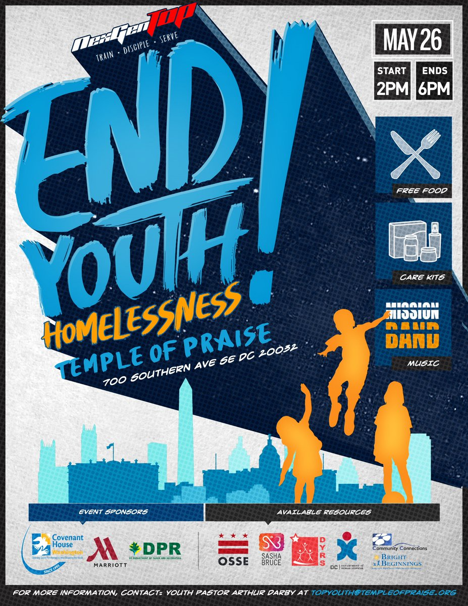 """Aasop ward 7 education on twitter: """"end youth homelessness! join"""