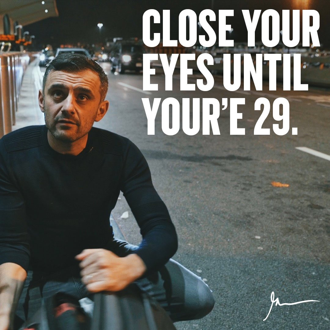 #ThursdayThoughts  If I could instill anything into my friends under 29 it's patience - so many are making mistakes from 22-26 predicated on their lack of