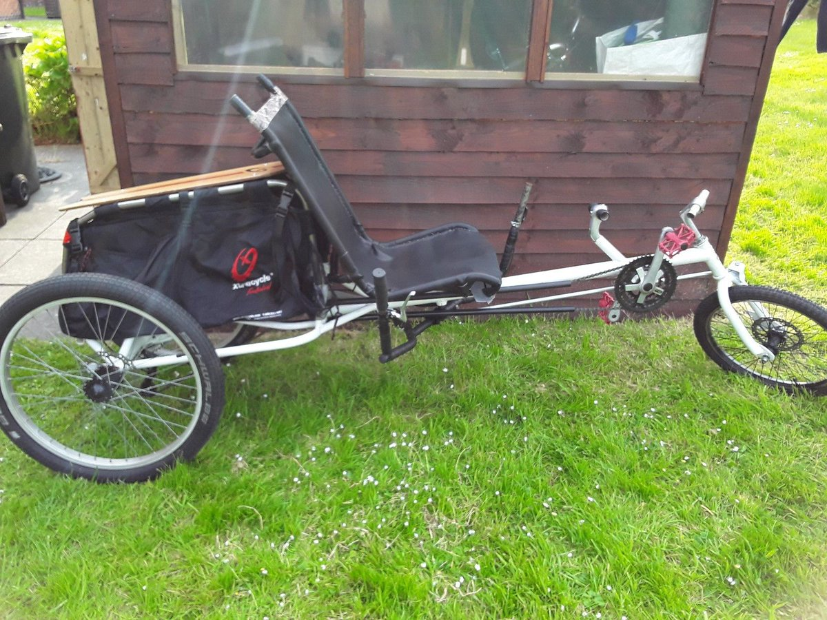 Home made Recumbent Trike versatile fun project.with extracy
