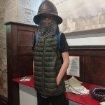 Enjoying dressing up at Carisbrooke