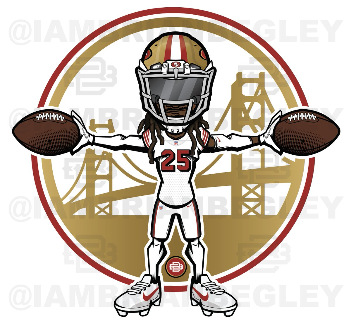 Brian Begley On Twitter New At 49ers Colorrush Uniform Cartoon For