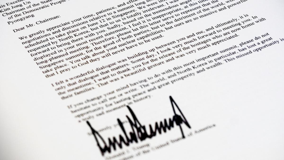 Im Wortlaut: Das ist der Brief, den Trump an Kim Jong-un schickte https://t.co/tokWx8eTCo