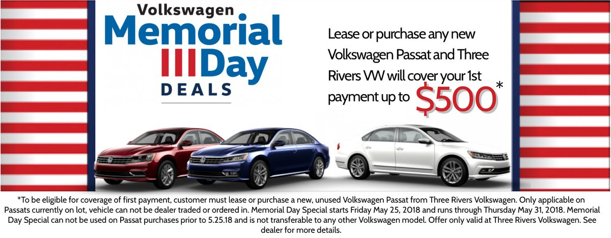 Three Rivers VW >> Three Rivers Vw On Twitter Lease Or Purchase Any New Vw