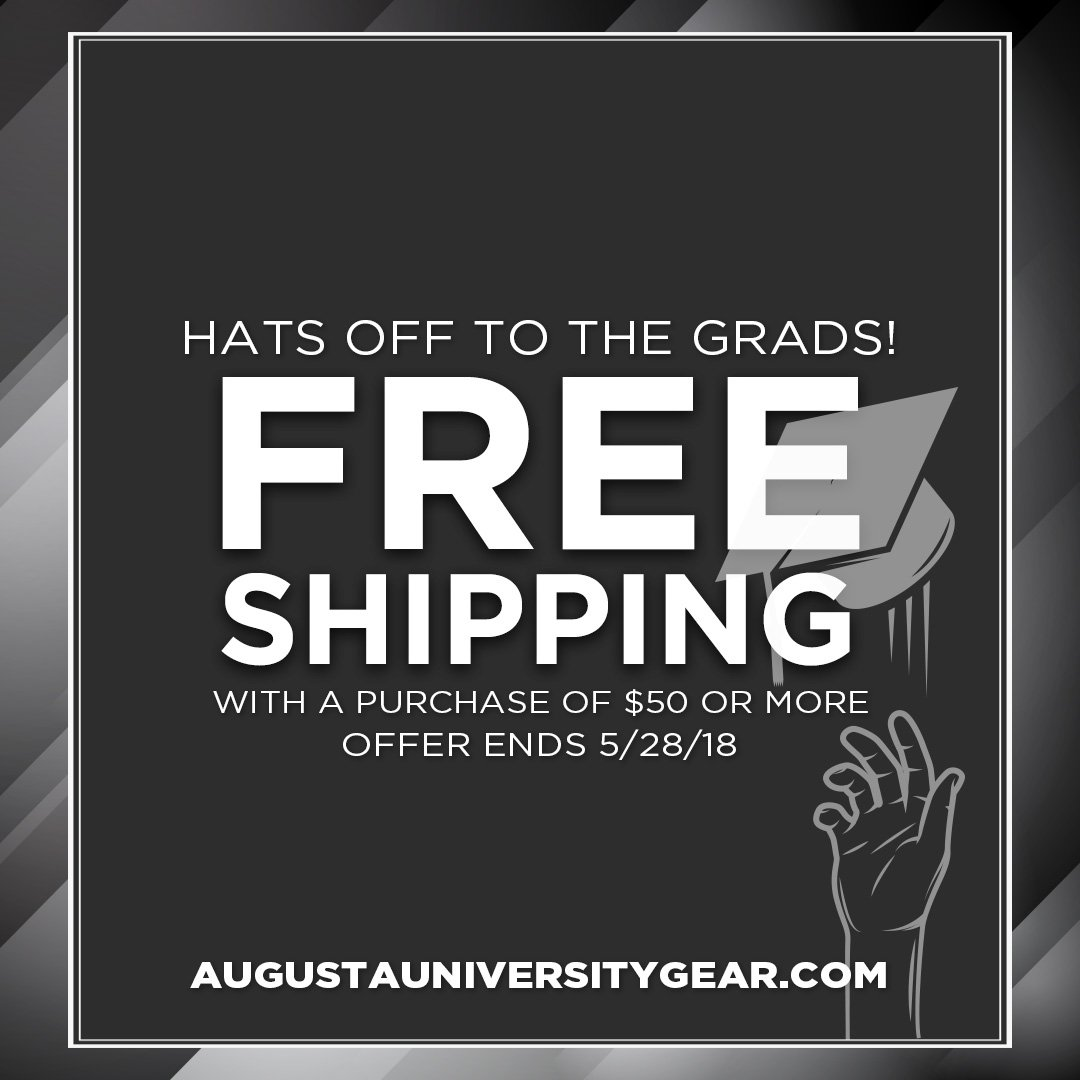 FREE Shipping on all orders of $50 or more right now at  http://www. augustauniversitygear.com  &nbsp;   Find some great gifts for current or future @aug_university Jaguars!<br>http://pic.twitter.com/c44ebn2ix6