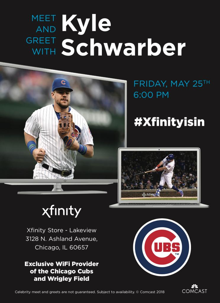 Comcast il on twitter come meet cubs kschwarb12 at the xfinity 923 am 24 may 2018 m4hsunfo