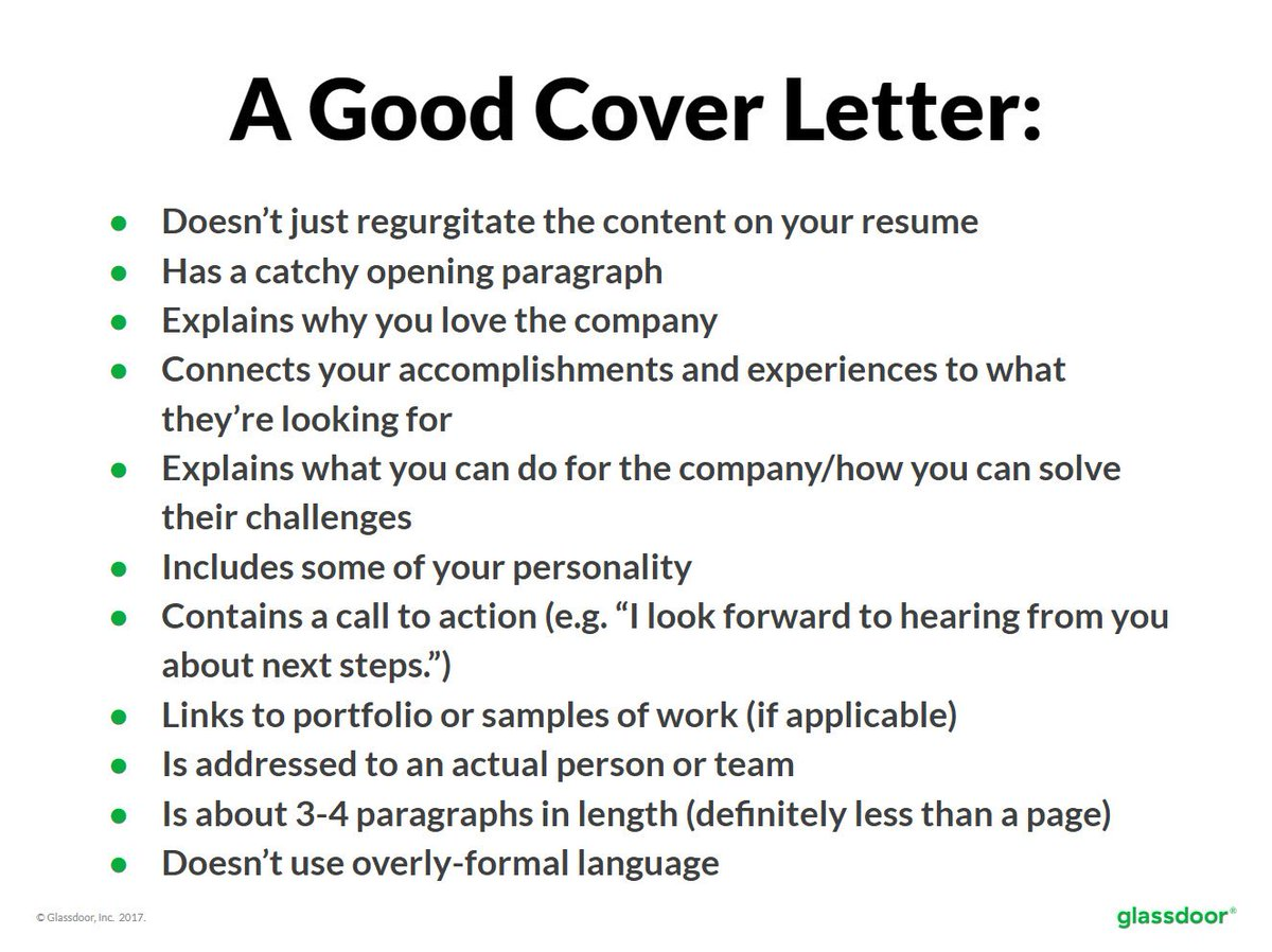 ResumeTip When Crafting A Cover Letter Consider The Following Rules Of Thumbpictwitter MYKFX4An22