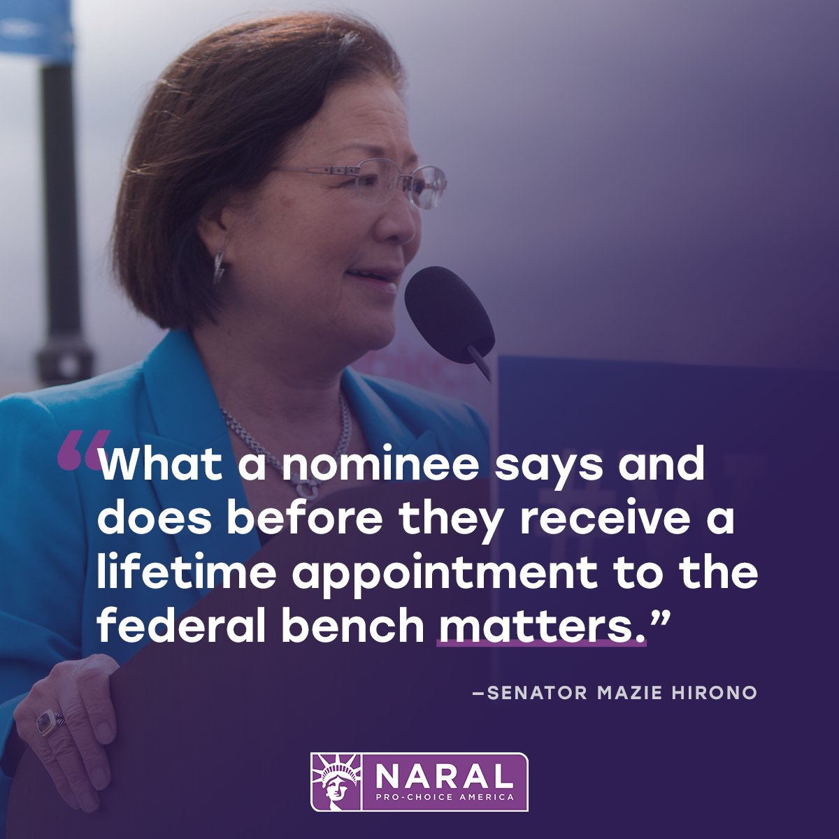 Thank you @maziehirono for speaking out on the floor today to protest the advancement of Vitter's nomination from the Senate Judiciary Committee and talk about why #CourtsMatter!  https:// bit.ly/2GKZzD6  &nbsp;   #UnfitToJudge<br>http://pic.twitter.com/FX5FL3zUWu