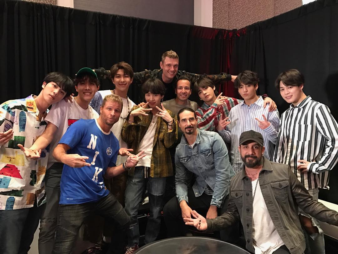 My heart is very much full thanks to this photo of the @backstreetboys and @BTS_twt 🌟