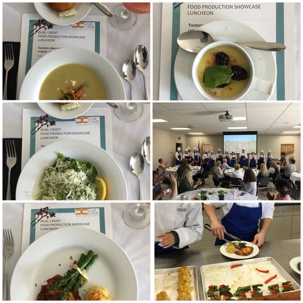 Mouthwatering temptations created by @ConestogaC Dual Credit Food Production students! Ask your guidance depat@UGDSB @WellingtonCath #thinkconestoga #guidancecafe<br>http://pic.twitter.com/CrTweXohl9