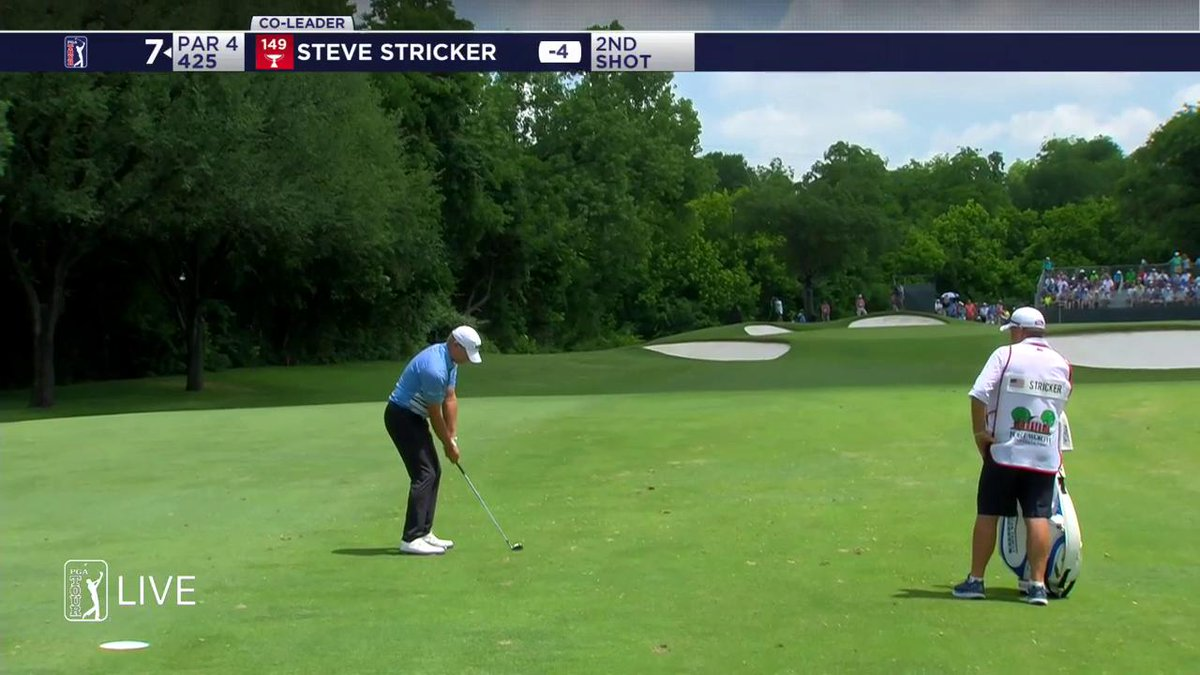 Tied for the lead at -5.  @SteveStricker picks up his fifth birdie of the round.  #QuickHits