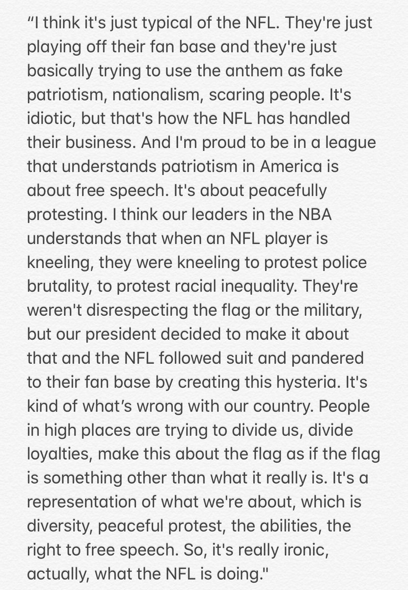 "Steve Kerr calls the NFL's new anthem policy ""idiotic."""