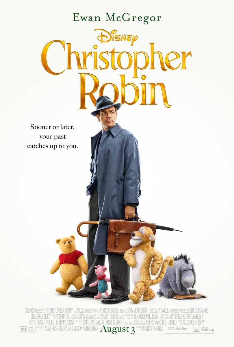 Our first look at Tigger, Piglet and Eeyore in the new poster for #ChristopherRobin