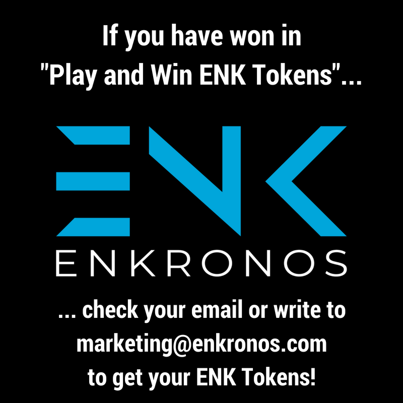 ++ Check if you have won in &quot;Play and Win ENK Tokens&quot; ++   https:// ico.enkronos.com/check-if-you-h ave-won-in-play-and-win-enk-tokens/ &nbsp; …   #ai #ar #IoT #blockchain #ICO #TGE #ENKronos #tokens #TokenSale<br>http://pic.twitter.com/tkKyYLt4pB