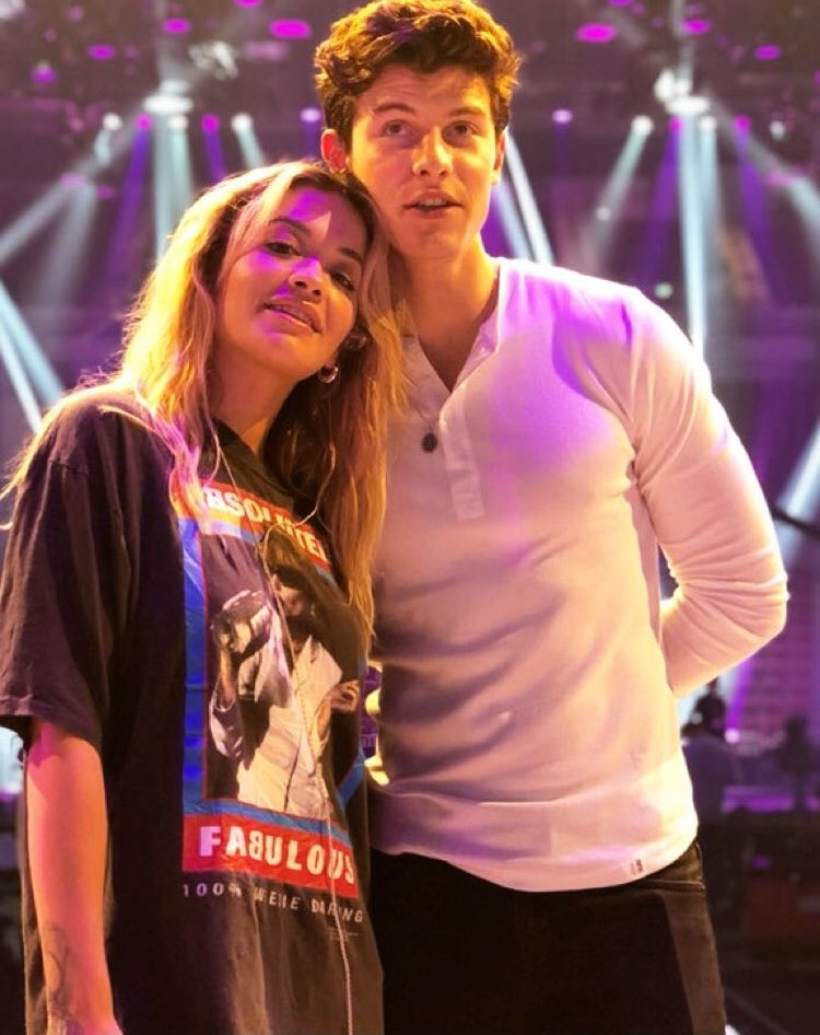 Shawn with Rita Ora today at Germany's Next Top Model. <br>http://pic.twitter.com/8bXpvr3mS5