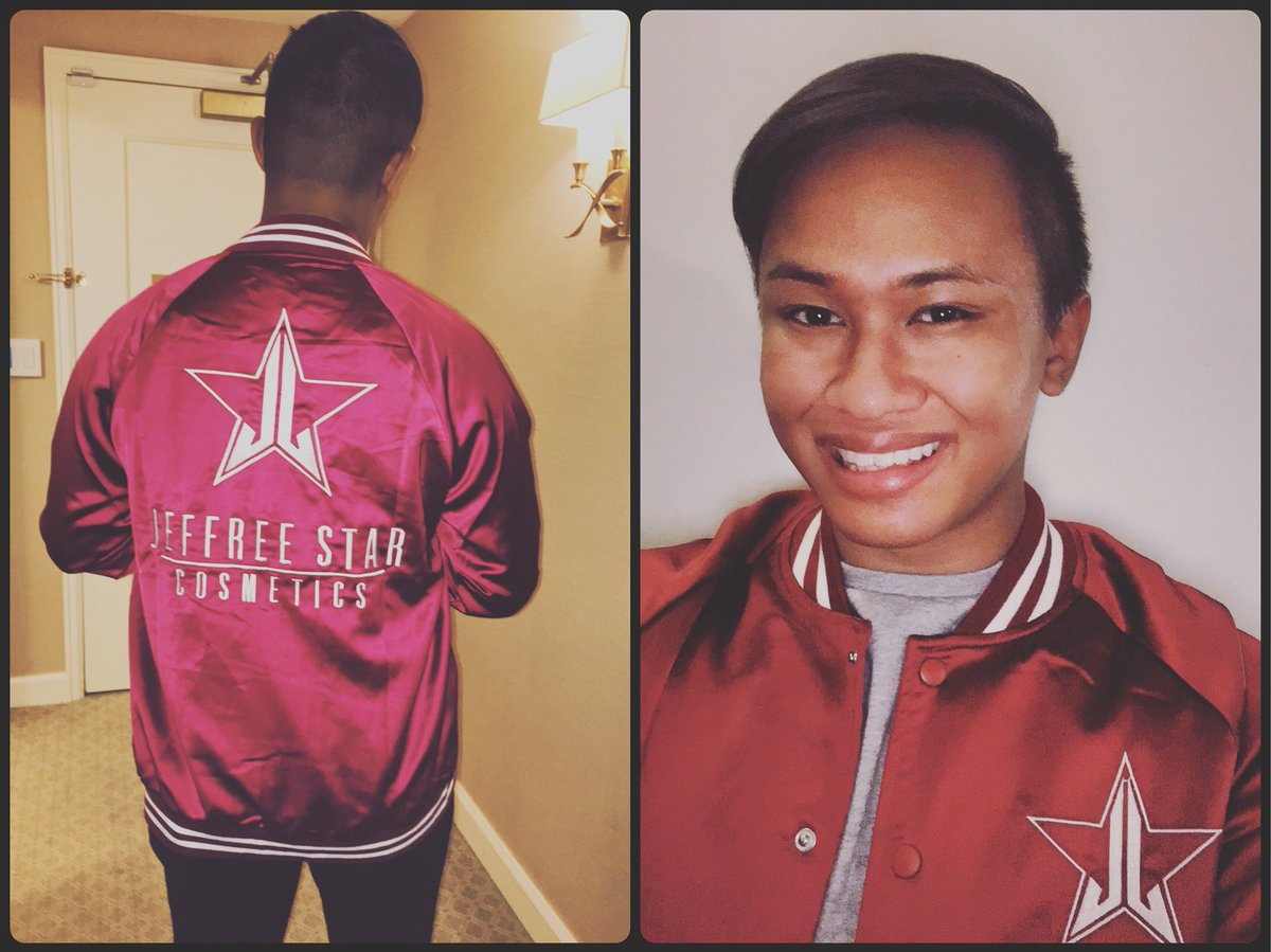 Thank you @JeffreeStar for making these amazing varsity jackets! You slay my life! Can't wait to see you in Grand Rapids for the makeup class!<br>http://pic.twitter.com/9D3mCasflQ