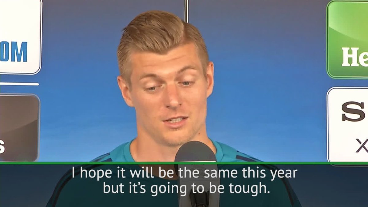 It gives you a good feeling to have him in your team 🙌 Toni Kroos talks Cristiano Ronaldo ahead of the Champions League final
