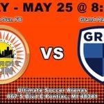 Image for the Tweet beginning: DETROIT SUN FC DETROIT vs GRAND