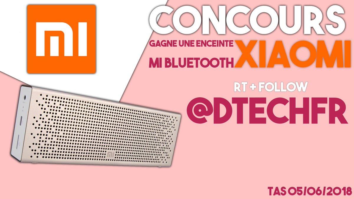 New #CONCOURS #giveaway #Xiaomi   Gagne une enceinte #XiaomiFrance    Suivre @DTechfr    #RT le post    Mentionne un ami   Ma chaine Youtube pour plus de #Concours  :  http:// urlz.fr/5GMa  &nbsp;    Tirage le 05 juin 2018<br>http://pic.twitter.com/xgnsmqKKFc