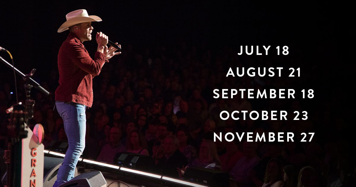 More 2018 #Opry shows with @dustinlynch? HECK YES! 👊😁   Tickets: https://t.co/ju71yVVcRL