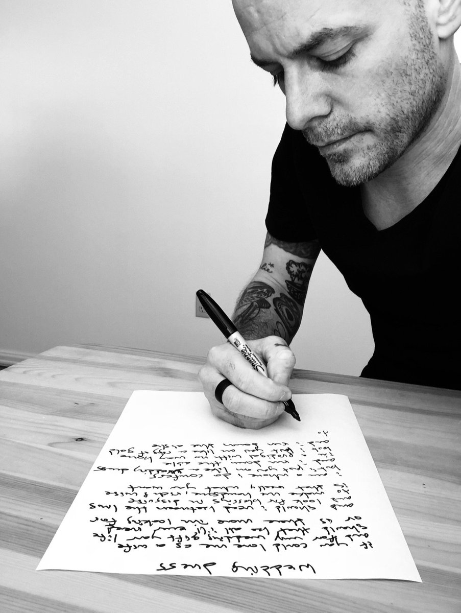 Derek Webb On Twitter Gonna Handwrite 5 Lyric Sheets This Month