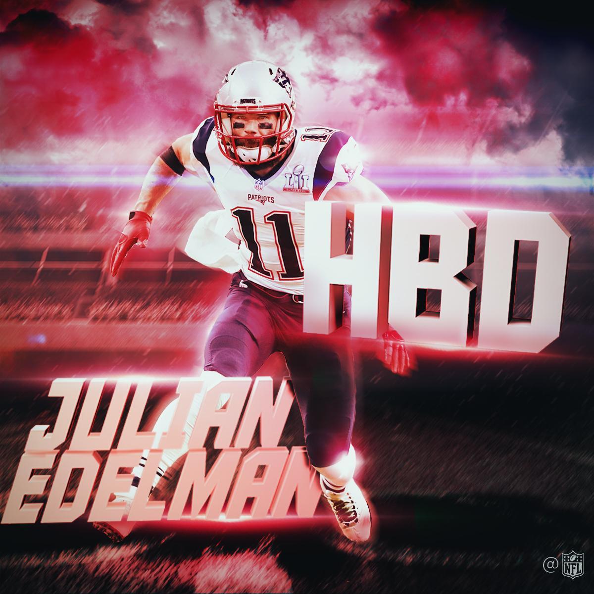 HAPPY BIRTHDAY to 2x @SuperBowl champion + @Patriots WR @Edelman11! �� https://t.co/hmFhqQDwsx