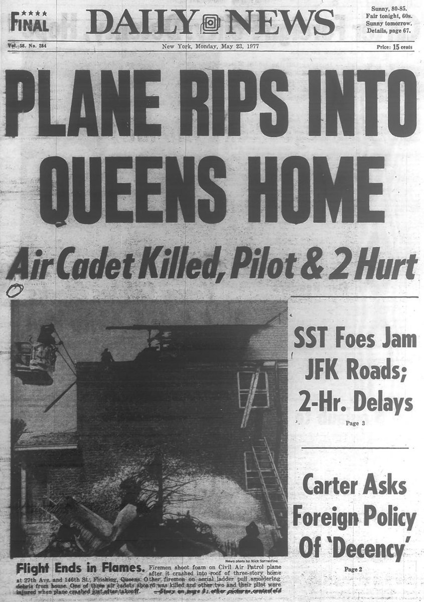 Daily News Flashback On Twitter A Plane Ripped Into A Queens House Onthisday In 1977 Killing One And Injuring Three Others Https T Co F3zoj2tmwr