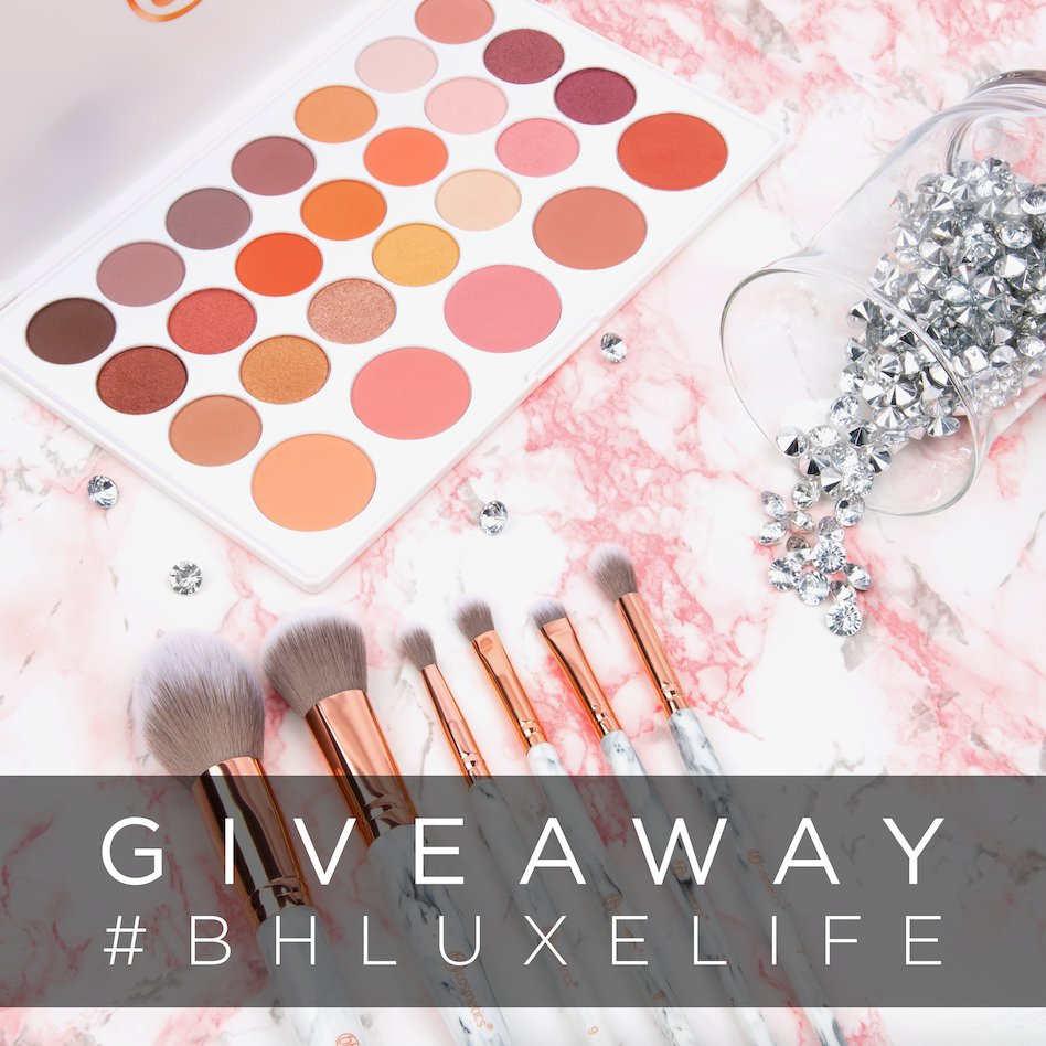 Our most luxe #BHBeautySecret yet - it's a #BHLuxeLife GIVEAWAY!💖 THREE lucky winners will get our ALL NEW Marble Luxe brush set and Nouveau Neutrals palette! RT this tweet & follow us for a chance to win! Enter as many times as you like!✨