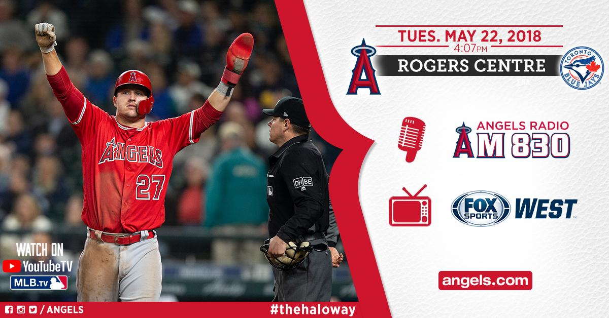 Back at it!  ⏰ 4:07pm �� @FoxSportsWest, @MLBTV, @YouTubeTV  �� @AngelsRadioKLAA https://t.co/fNmU9Xln3A