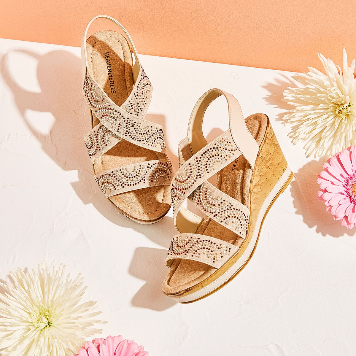 wedge sandals with extra cushioning