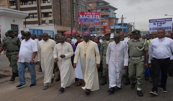 Resultado de imagen de Católicos marchan en Nigeria contra asesinatos de cri
