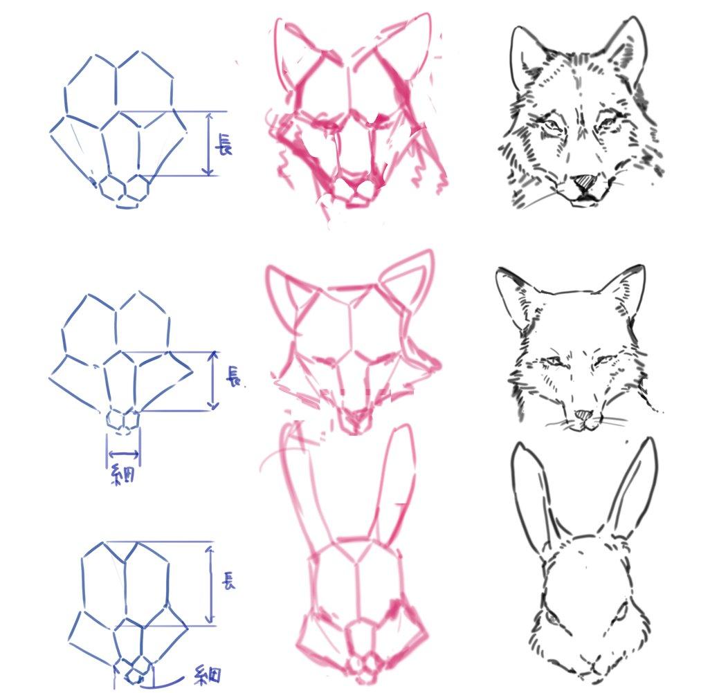 動物のイラストが苦手なイラスターさん集合!六角形を利用すれば上手に