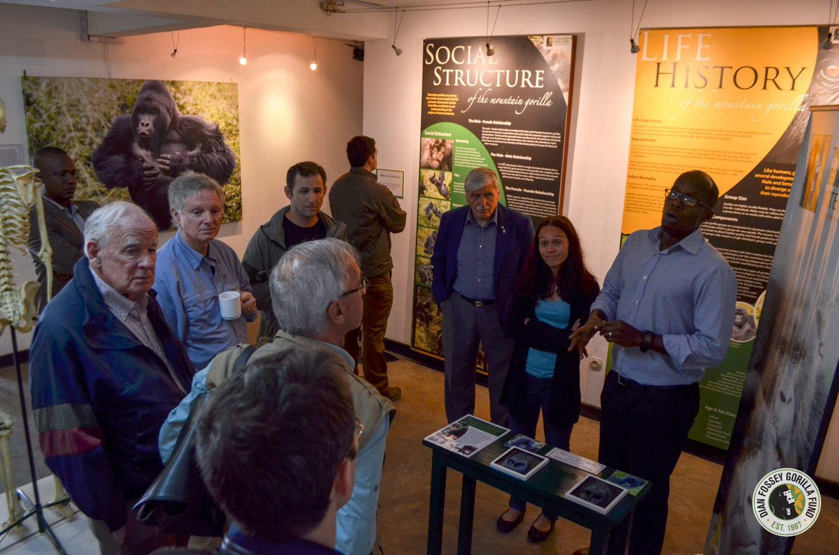 The Fossey Fund was honored to welcome General Roméo Dallaire to Karisoke, where he met with our team and toured the exhibit. General Dallaire was the Force Commander of the United Nations peacekeeping force for Rwanda prior to and during the 1994 Genocide against the Tutsi.